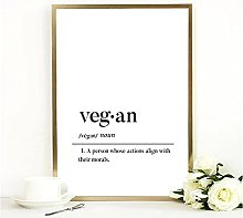 FUXUERUI Vegan Definition Canvas Wall Art Print