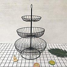 Fuyamp 3 Tier Metal Fruit Basket,Black Fruit Bowl