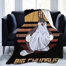 Fuzzy Throw Big Chungus Blanket Fit Sofa- Fluffy