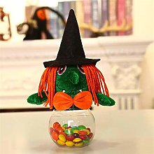 FWQW Halloween Candy Jar Plastic Cookie Jars Witch