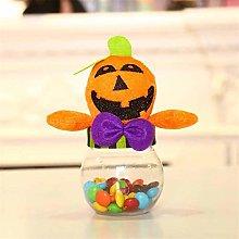 FWQW Halloween Candy Jar Pumpkin Transparent