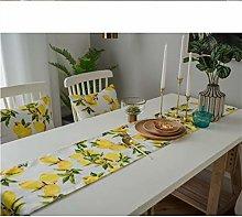 FWQW Summer Lemon Runner,Print Lemon and Green