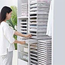 FWQW Wardrobe Storage Box Drawer Storage Racks