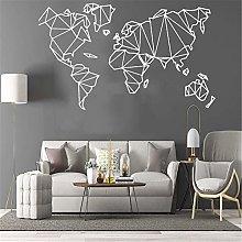 FXBSZ Geometric World Map Wall Sticker Mural
