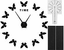 Fybida Acrylic Wall Clock, Large Wall Sticker Wall