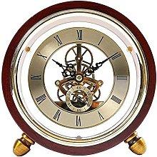 FYHH-JZHY Fireplace Clock Wood Mute Design Metal