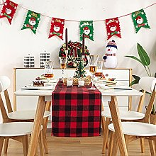 FYJS Buffalo Checked Table Runner in Cotton and