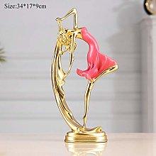 FYMIJJ sculpture,Resin Dancing Girl Crafts For