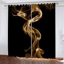 FYOIUI Abstract Smoke Art Printed Blackout