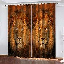 FYOIUI African Animal Lion Printed Blackout