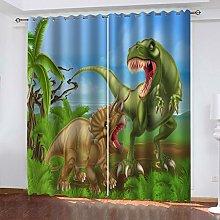 FYOIUI Animal Dinosaur Printed Blackout Curtains