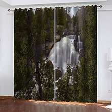 FYOIUI Forest Waterfall Scenery Printed Blackout