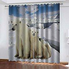 FYOIUI Glacial Polar Bear Printed Blackout