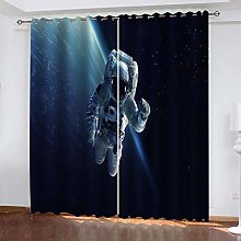 FYOIUI Space Astronaut Printed Blackout Curtains