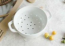 Fyuan Ceramic Porcelain Colander Kitchen Strainer