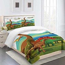 FYVEJI Double Duvet Cover Set Animal dinosaur