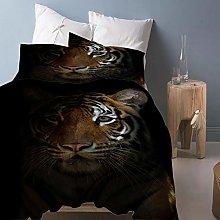 FYVEJI Double Duvet Cover Set Animal tiger Bedding