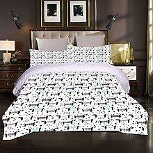 FYVEJI Double Duvet Cover Set Color animal dog