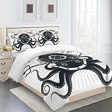 FYVEJI Single size Duvet Cover Set Marine octopus
