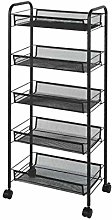 FYZS Service Carts Removable 5 Tiers Metal Storage