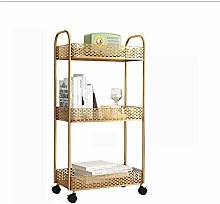 FYZS Service Carts Rolling Basket Stand, Full