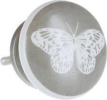 G Decor Grey Butterfly Ceramic Door Knobs Ceramic