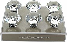 G Decor Pack of 6 x 40mm Clear High Quality