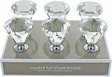 G Decor Pack of 6 x 42mm Clear Long Diamond