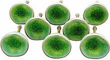 G Decor Sea Light Green Rhodes Ceramic Door Knobs