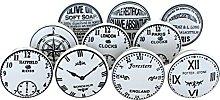 G Decor Set of 10 x The Time Ceramic Door Knobs