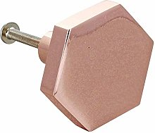 G Decor Set of 6 Rose Gold Copper 38mm Hexa