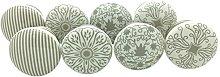 G Decor Set of 8 Grey Success I,II,III,IV Ceramic