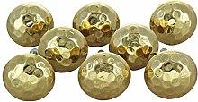 G Decor Set of 8 Hammered Brass Metal Door Knob