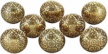 G Decor Set of 8 Mughal Brass Metal Door Knob