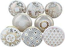 G Decor Set of 8 Royal Gold Ceramic Door Knobs