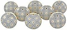 G Decor Set of 8 Royal Gold I Ceramic Door Knobs