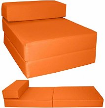 G&H Orange Folding Mattress with Removable Cover
