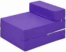 G&H Purple Folding Mattress with Removable Cover