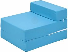 G&H Turquoise Folding Mattress with Removable