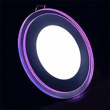 G.W.S® 8W+4W Ultra Thin Chrome Mirror Purple Edge