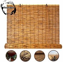G&Y Bamboo Roll Up Window Blind Sun Shade, Reed