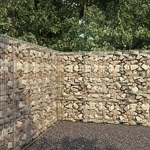Gabion Wall with Cover Galvanised Steel 300x50x200
