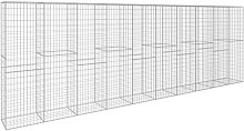 Gabion Wall with Cover Galvanised Steel 600x50x200