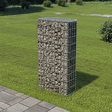Gabion Wall with Covers Galvanised Steel 50x20x100