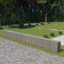 Gabion Wall with Covers Galvanised Steel 900x50x100 cm VDTD05491 - Topdeal