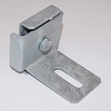 Gabiona - Clamp with fence support bracket for