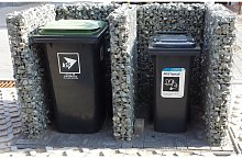 Gabiona - Rubbish bin stall extension