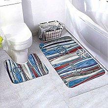 GABRI Bathroom Rug Set 2 Piece Anchor Shipping