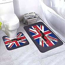 GABRI Bathroom Rug Set 2 Piece Union Jack Penny