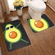GABRI Dabbing Avocado Bathroom Rug Set 2 Piece